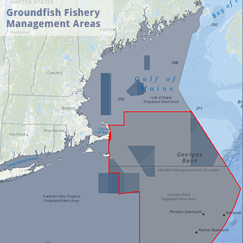 Groundfish Fishery Management Areas Map