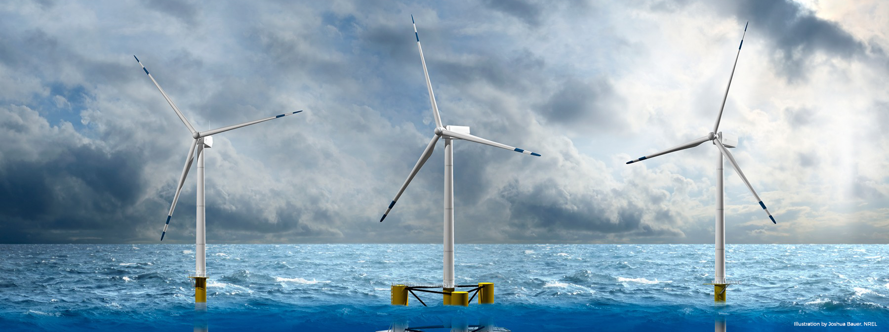 Offshore wind farm photograph