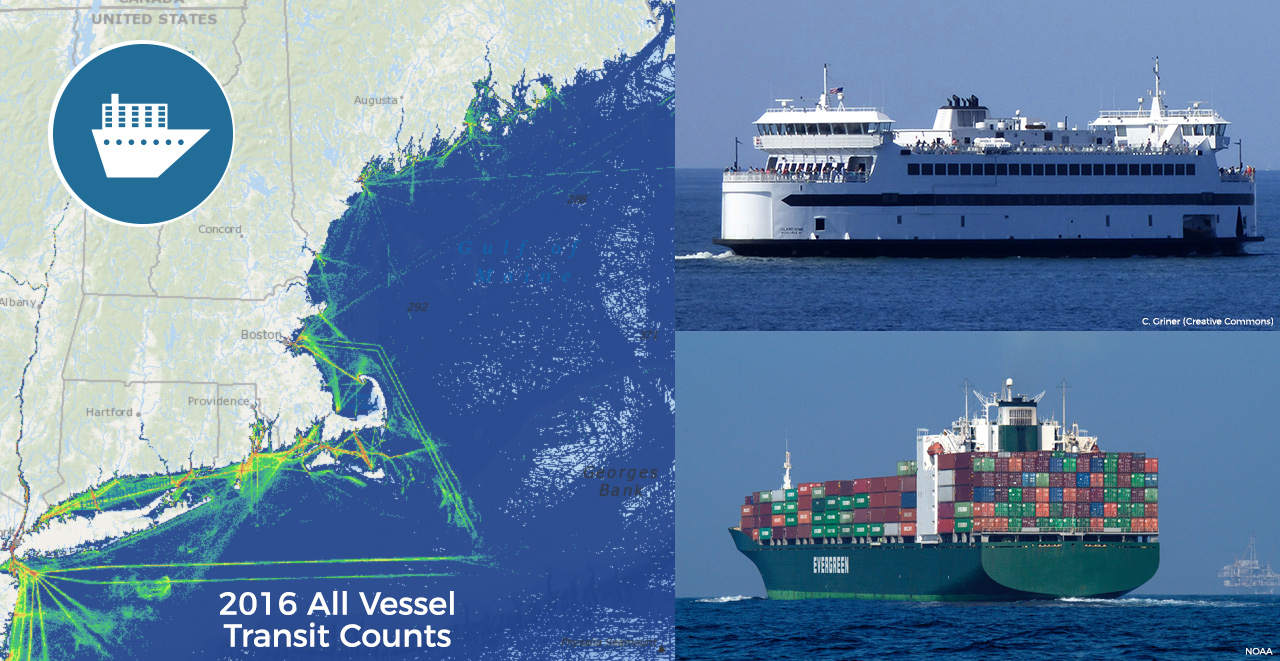 New Vessel Traffic Data and Maps Now Available on Northeast Ocean Data Portal