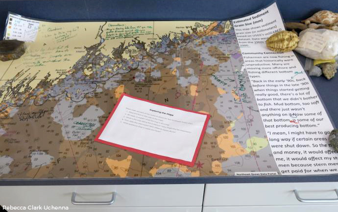 Northeast Ocean Data map used by students at Edna Drinkwater School