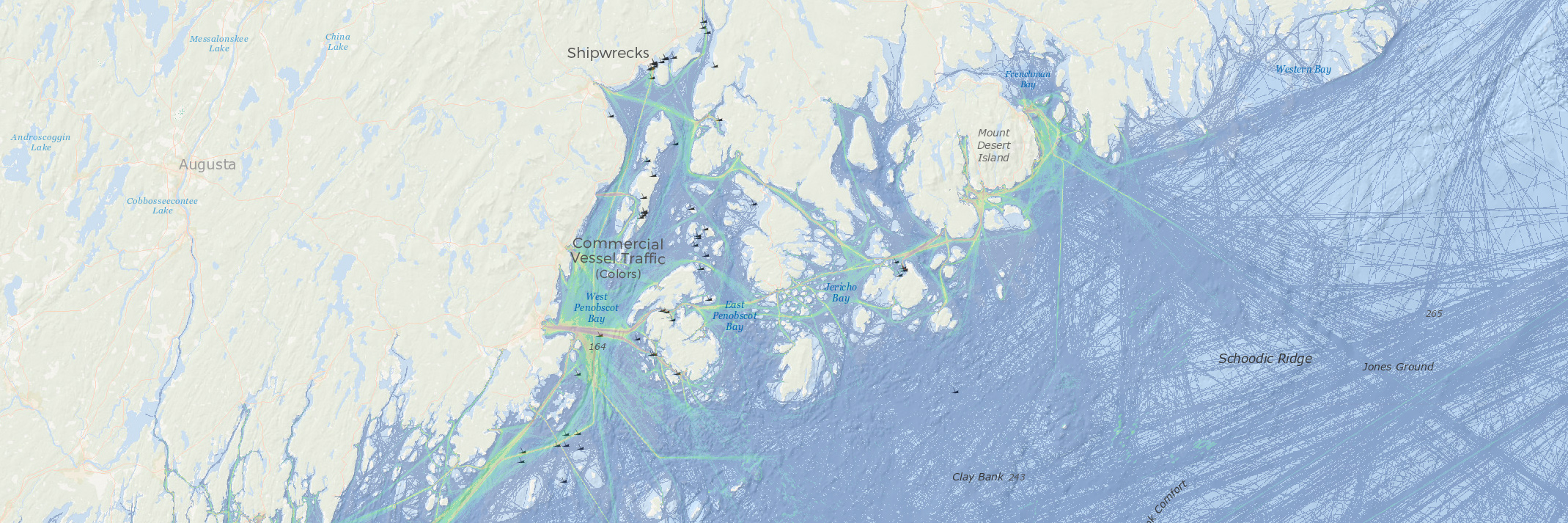 China Lake Maine Map.Inspiring K 12 Students Northeast Ocean Data Portal