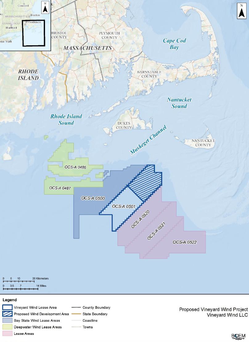 Maps Of Vineyard Wind Project Northeast Ocean Data Portal