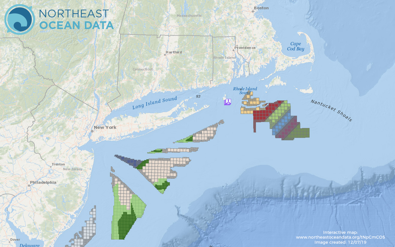 Offshore Wind Map - Planning Areas, Lease Areas & Operational Installations